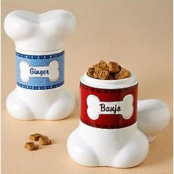 Personalized Doggy Bone Treat Jar