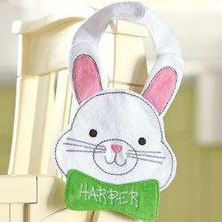 Personalized Shaped Bunny Bib