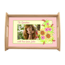 Wildflowers Personalized Photo Serving Tray