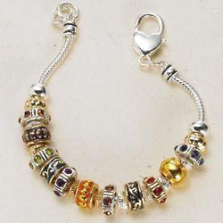 Crystal Beads Charm Bracelet