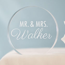 Engraved Mr & Mrs Cake Topper
