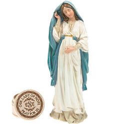 Personalized Our Lady of Hope Statue and Trinket Box Gift Set