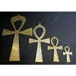 Small Yellow Brass Ankh