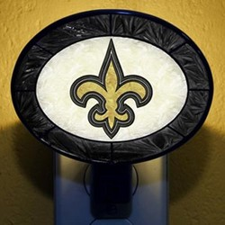 New Orleans Saints Hand-Painted Glass Nightlight