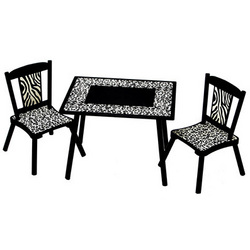 Wild Side Table and Chair Set