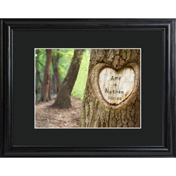 Personalized Tree of Love Print with Beveled Wood Frame