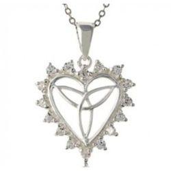 Celtic Love Knot Heart Pendant Necklace