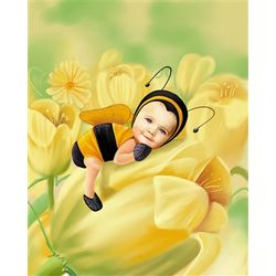 Custom Baby Bumble Bee Print from Photo