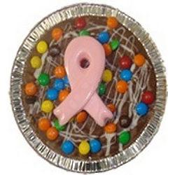Pink Ribbon Mini Chocolate Pizza