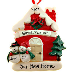 Personalized Snow Couple New Home Ornament