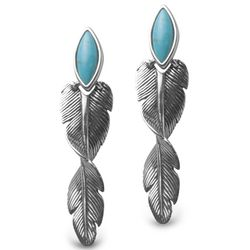 Spiraling Spirit Feather Earrings