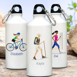 "Personalized ""Go-Girl"" Water Bottle"