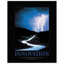 Innovation Predict the Future Motivational Poster