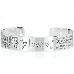 Sterling Silver Love Bangle Bracelet