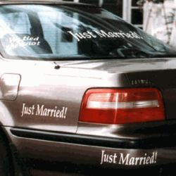 Newlywed Car Decorations