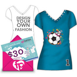 $30 Gift Certificate to Design-Your-Own Fashion