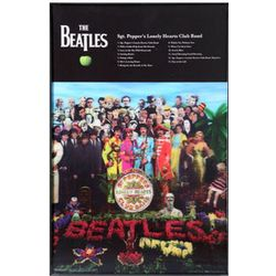 Framed The Beatles Sergeant Pepper's Album Artwork