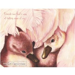 Duckling Love Personalized Art Print
