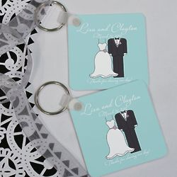 Personalized Bride and Groom Keychain