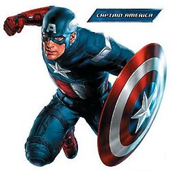 Captain America Vinyl Wall Cling