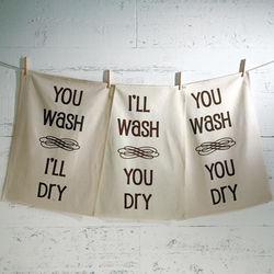 I'll Wash, You Dry Dish Towels Set