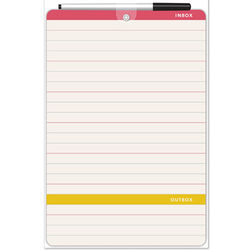 Small Lined Dry-Erase Board with Pen