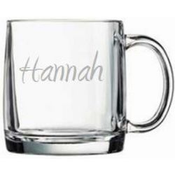 Personalized Large Glass Mug