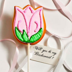 Personalized Tulip Wedding Cookie Card