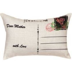 Floral Post Card Mother Pillow