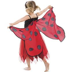 Fanciful Fabric Ladybug Dress with Wings