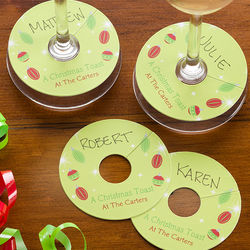 Cheers to the Holidays Personalized Wine Tags