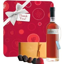 Holiday Warres Otima Wine and Godiva Chocolates