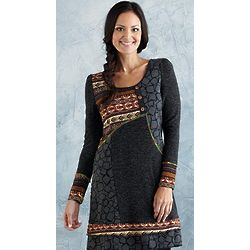 Patchwork Sweater Tunic