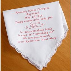 Personalized Sweet Baby Handkerchief