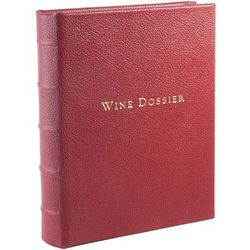 Hand Bound Garnet Leather Wine Dossier