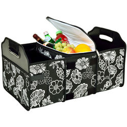 Night Bloom 3-Section Foldable Trunk Organizer and Cooler
