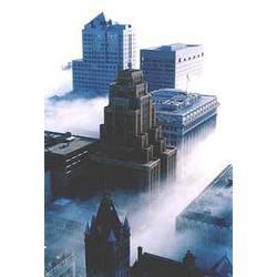 Downtown Milwaukee Fog Fine Art Photography Print