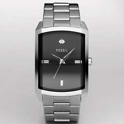Three Hand Black Dial Watch