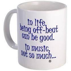 OffBeat Music Humor Mug