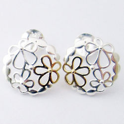 Two Tone Wild Flower Earrings
