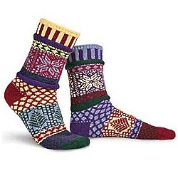 Large Recycled Cotton Winterberry Design Socks