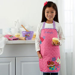 Personalized Girl's Cupcake Apron