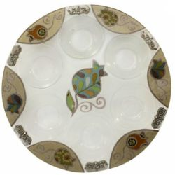 Turquoise Pomegranate Seder Plate