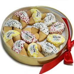Chocolate-Dipped Fortune Cookie Gift Tin