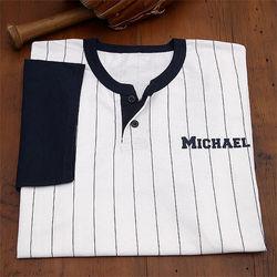 Dad's Pinstripe Baseball Jersey