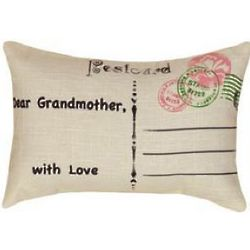 Victorian Post Card Grandmother Pillow
