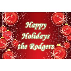 Personalized Traditional Ornaments Christmas Banner