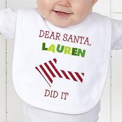Dear Santa Personalized Infant Bib