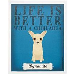 Personalized Life is Always Better Dog Breed Art