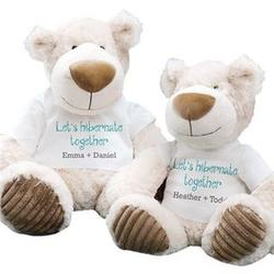 Personalized Let's Hibernate Together White Teddy Bear